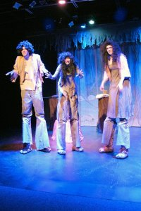 "The Trolls (Maddie Barr, Olivia Cranston, Sam Crewe-Sullam). ""The Hobbit – A Musical""  at Studio East."