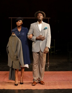 (l to r) Nonhlanhla Kheswa and Ivanno Jeremiah in Peter Brook's The Suit. Photo: Pascal Victor, ArtcomArt.