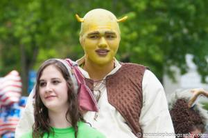 "Christian Obert as Shrek in Studio East's production of ""Shrek the Musical""."